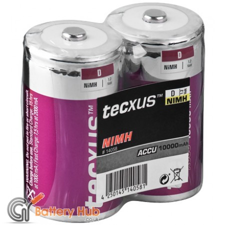 tecxus Baby (D) Rechargeable Battery 2 Pack - 10000 mAh