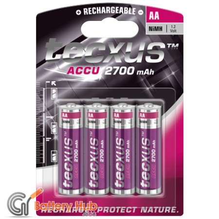 tecxus Mignon (AA) Rechargeable Battery 4 Pack