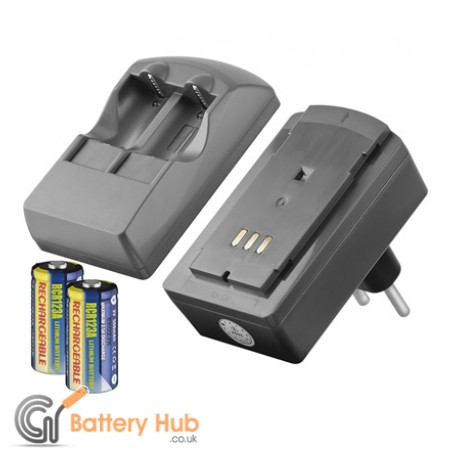 Charger kit for Lithium Photo Batteries - 2 x rechargeable CR123