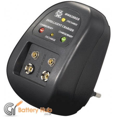 Computer controlled Charger for rechargeable 9V block NiCd/NiMH