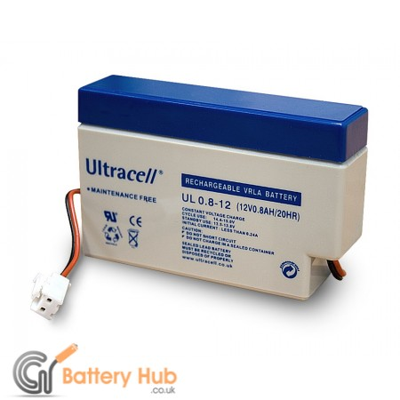 Ultracell Lead Acid Battery 12V/0.8Ah with JST Plug