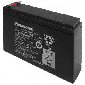 Panasonic Lead Acid Battery 12 V/20W (UP-VW1220P1) Faston (6.35mm)