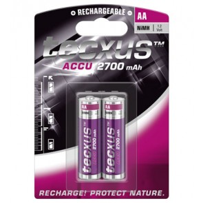 tecxus Mignon (AA) Rechargeable Battery 2 Pack
