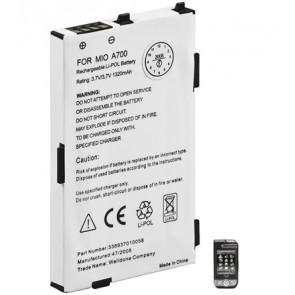 PDA Battery for Mitac mio A700/A701/A710