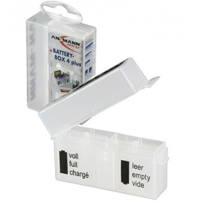 Battery storage box 4 x AA(A) + 4 SD Cards